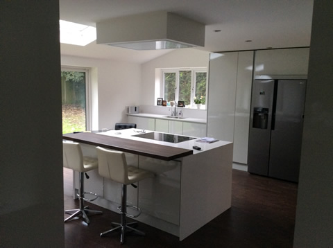 Kitchen and lounge extension, Whitefield, Greater Manchester. Paul Donouhue Building Services